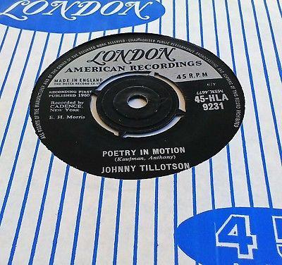 JOHNNY-TILLOTSON-POETRY-IN-MOTION-45-HLA-9231-1st-PRESS-UK-VINYL